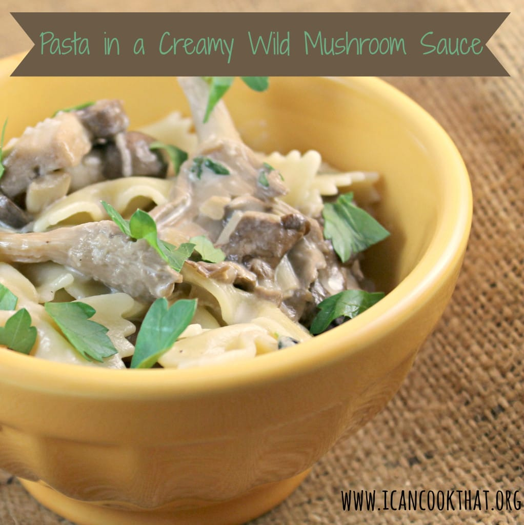 Pasta in a Creamy Wild Mushroom Sauce