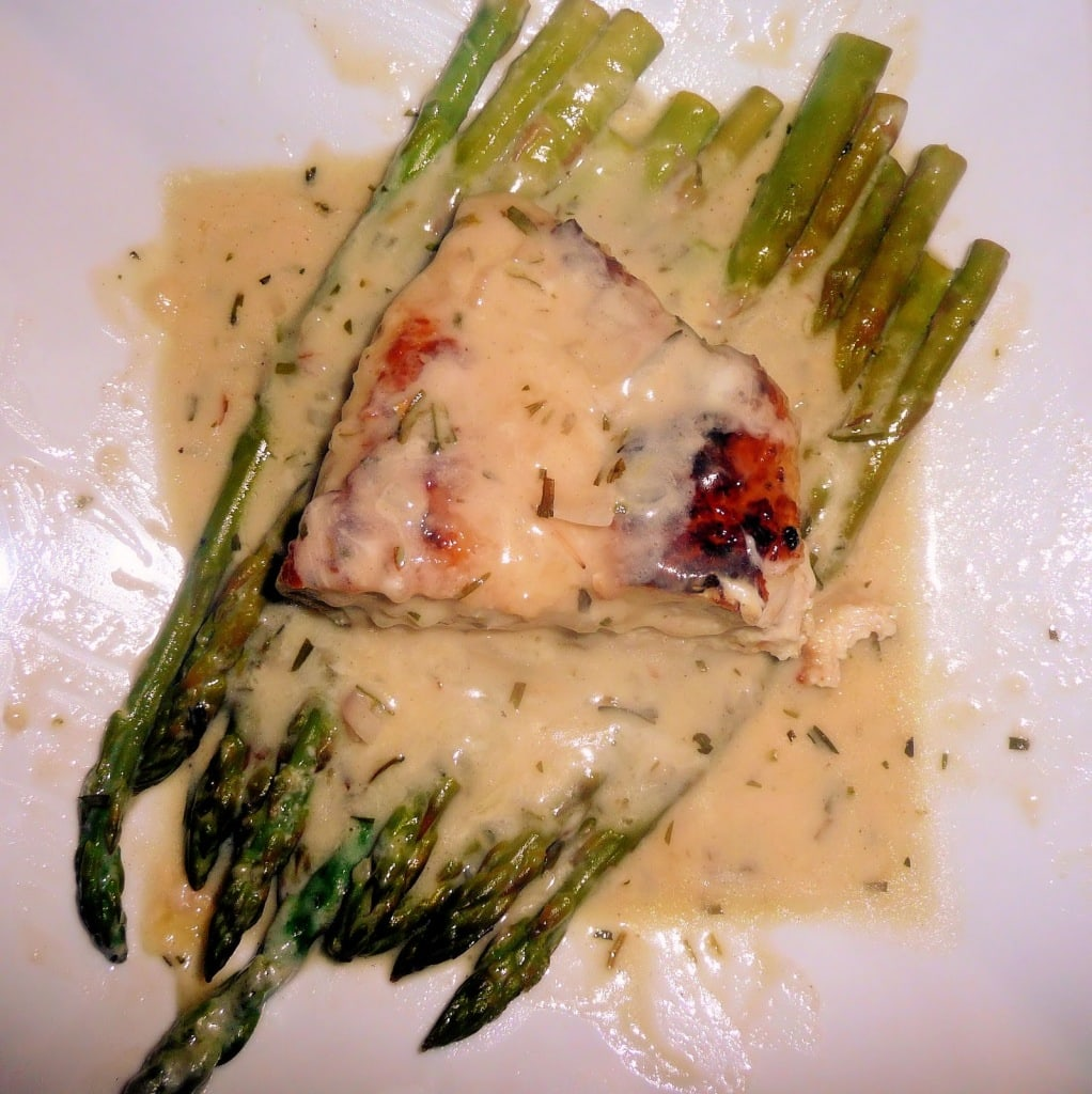 Chicken & Asparagus with Melted Gruyère
