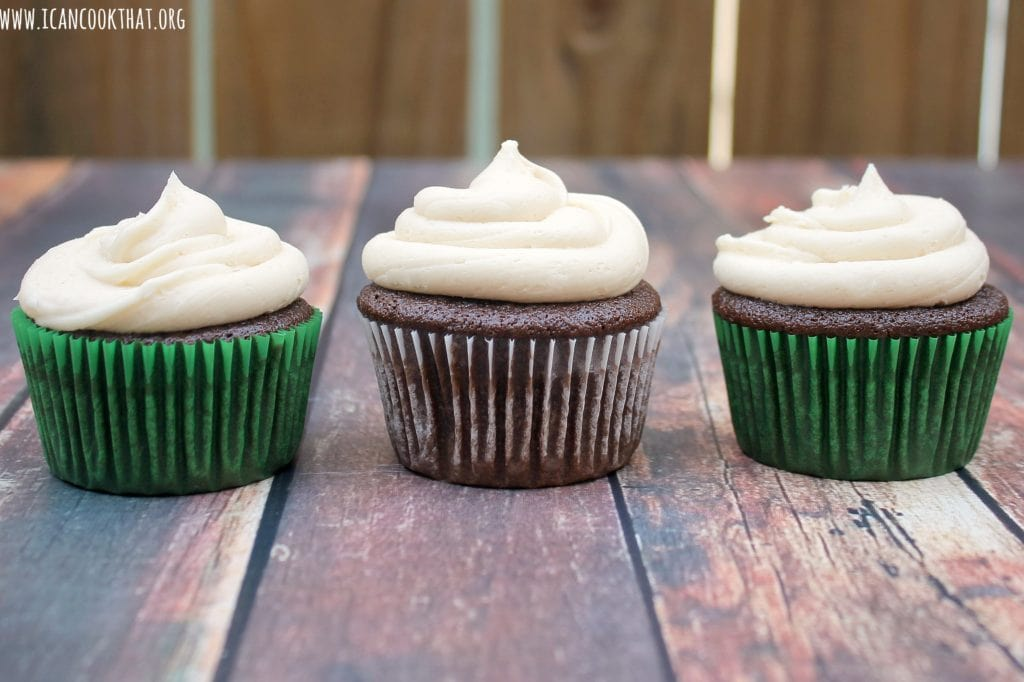 Guinness Cupcakes with Baileys Frosting
