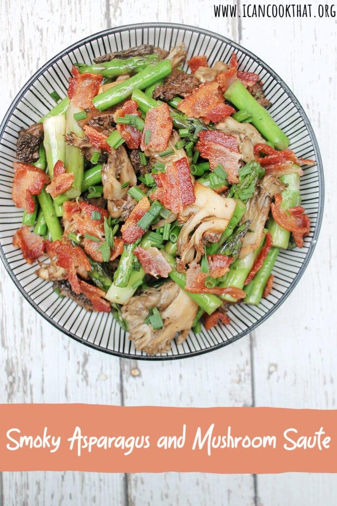 Smoky Asparagus and Mushroom Saute
