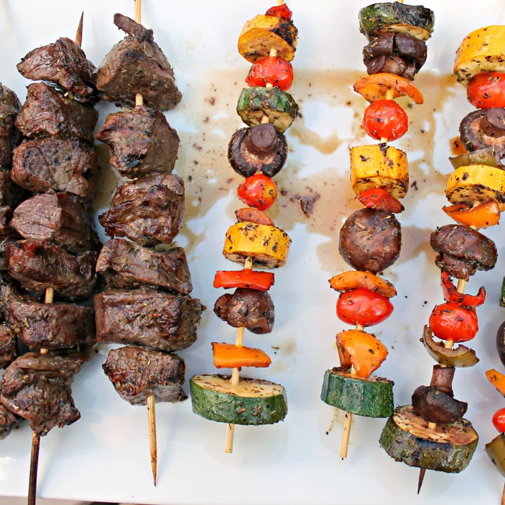 Shish Kabobs with Rice