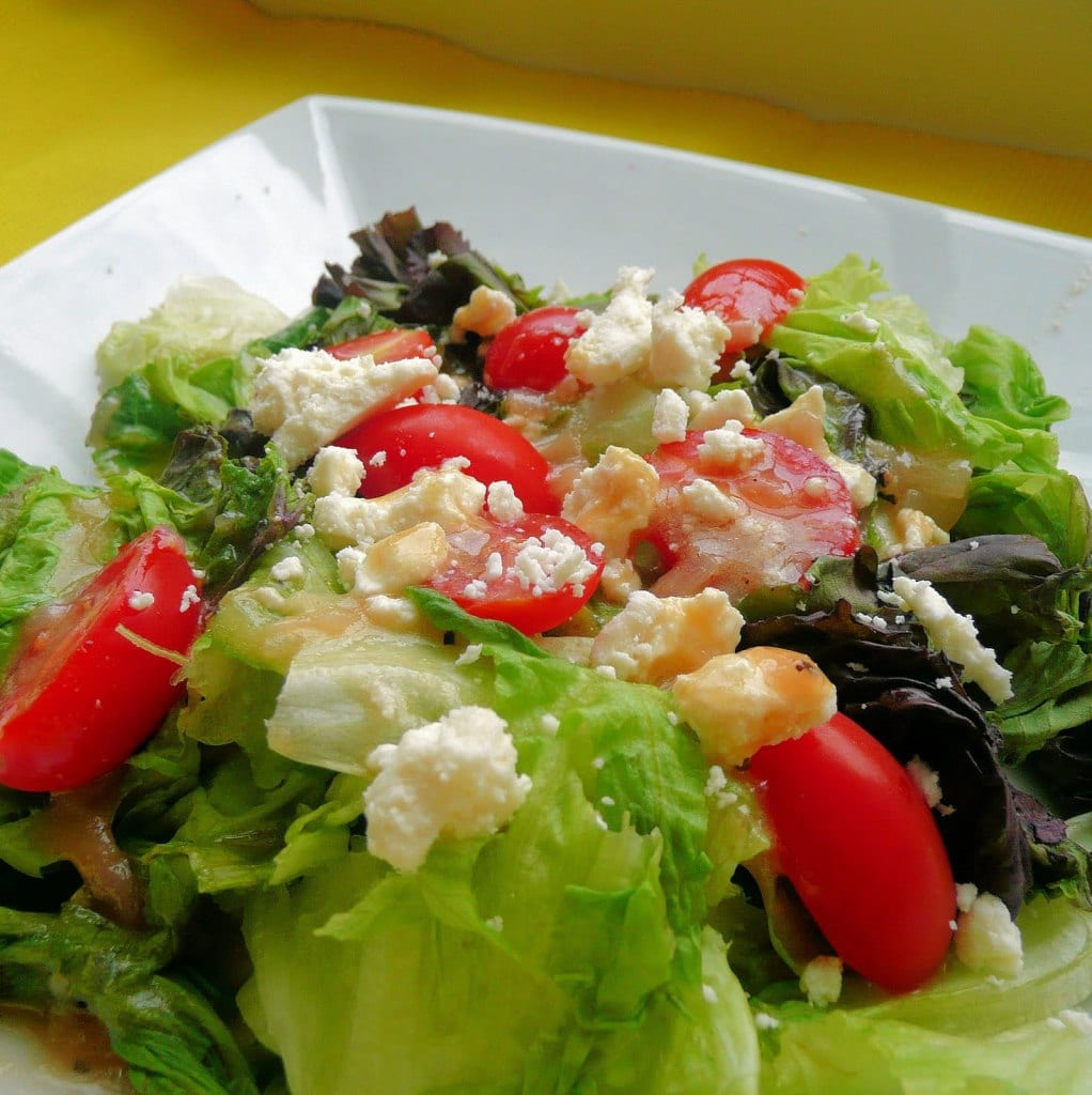 Salad with Roasted Shallot Vinaigrette