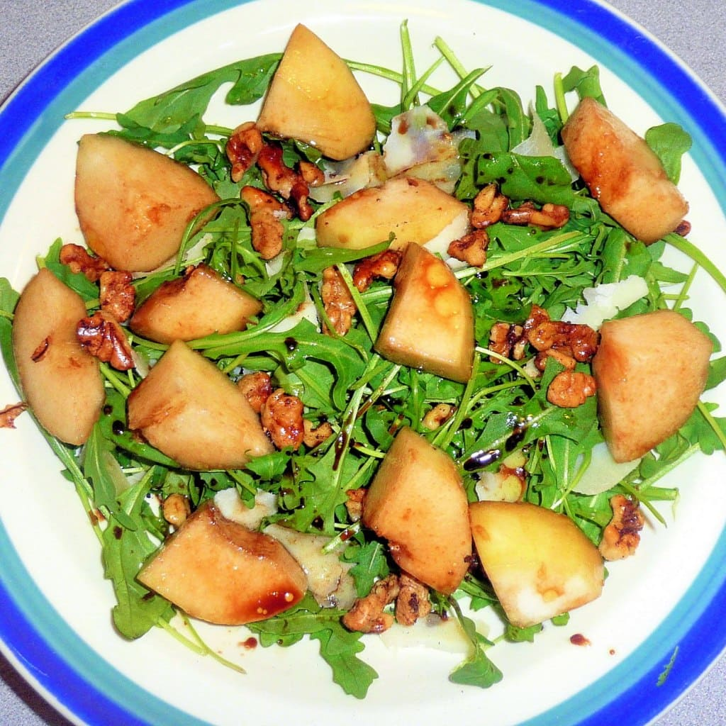 Pear & Arugula Salad with Walnuts & Parmesan