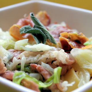 Pappardelle with Cabbage, Prosciutto and Sage