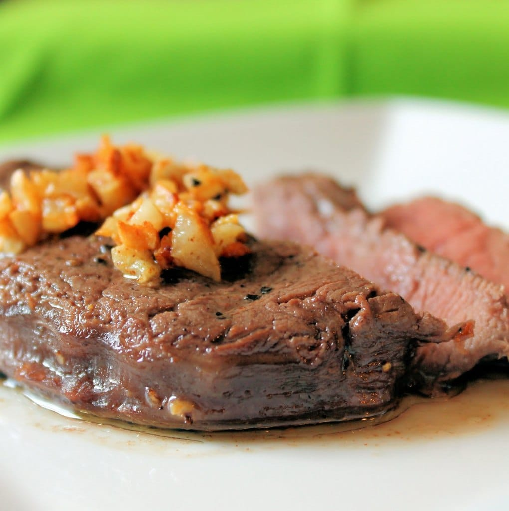 Top Sirloin Steak with Crispy Buttered Garlic