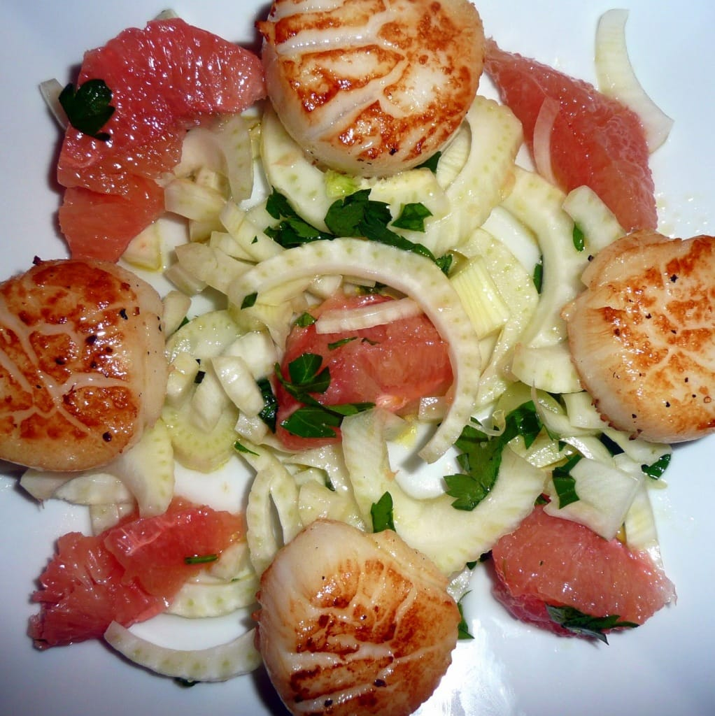 Scallops Grapefruit and Fennel? Hmm…