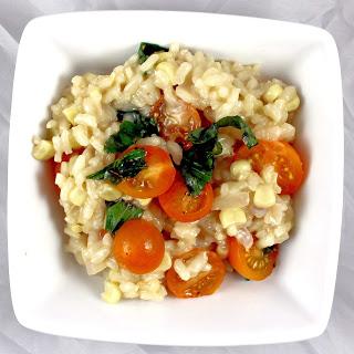 Corn, Tomato & Basil Risotto