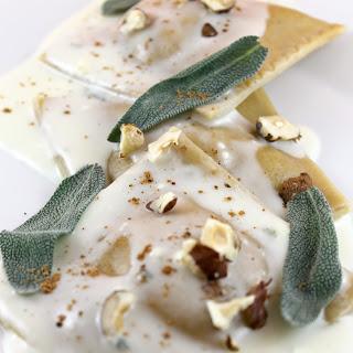 Pumpkin Ravioli with Gorgonzola Sauce