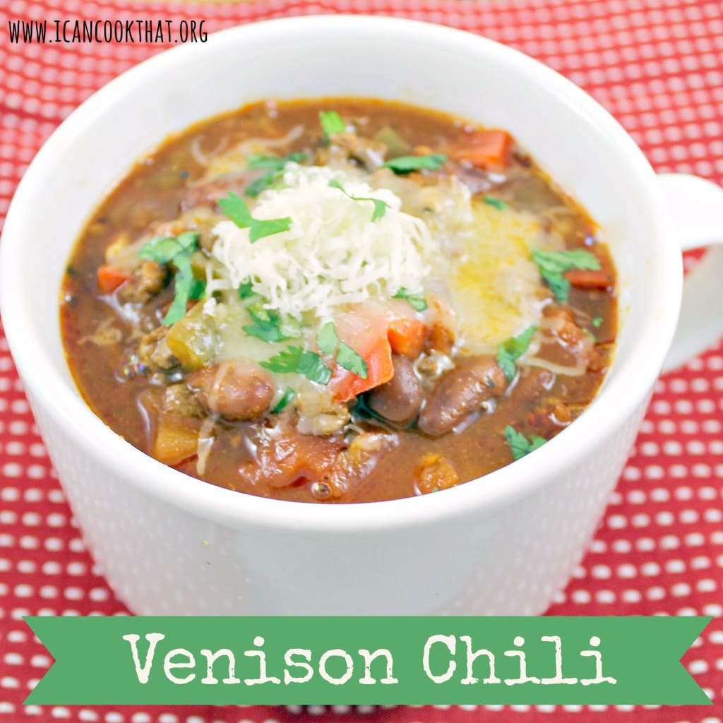 Venison Chili with Jalapeno-Cheddar Corn Muffins