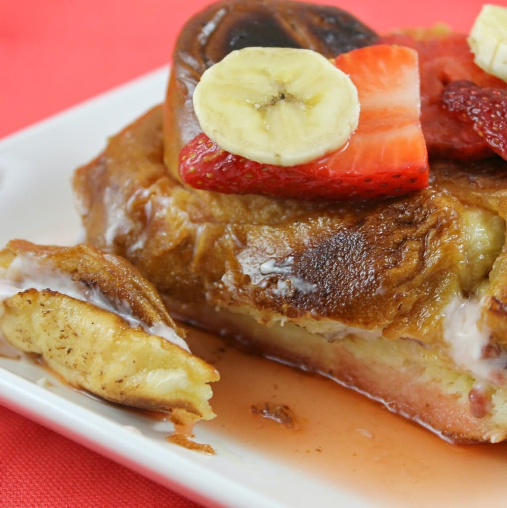 Strawberry-Banana Stuffed French Toast