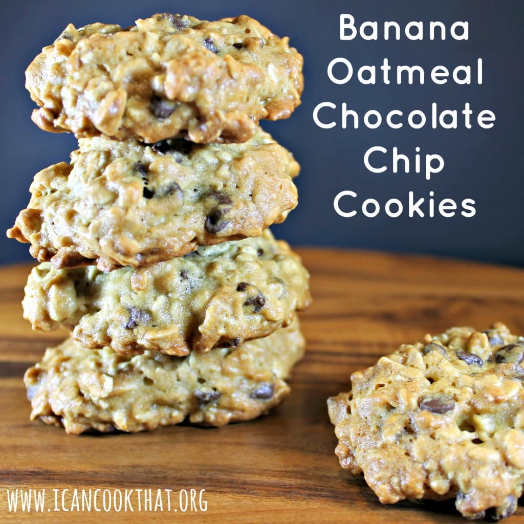 Banana Oatmeal Chocolate Chip Cookies Recipe I Can Cook That