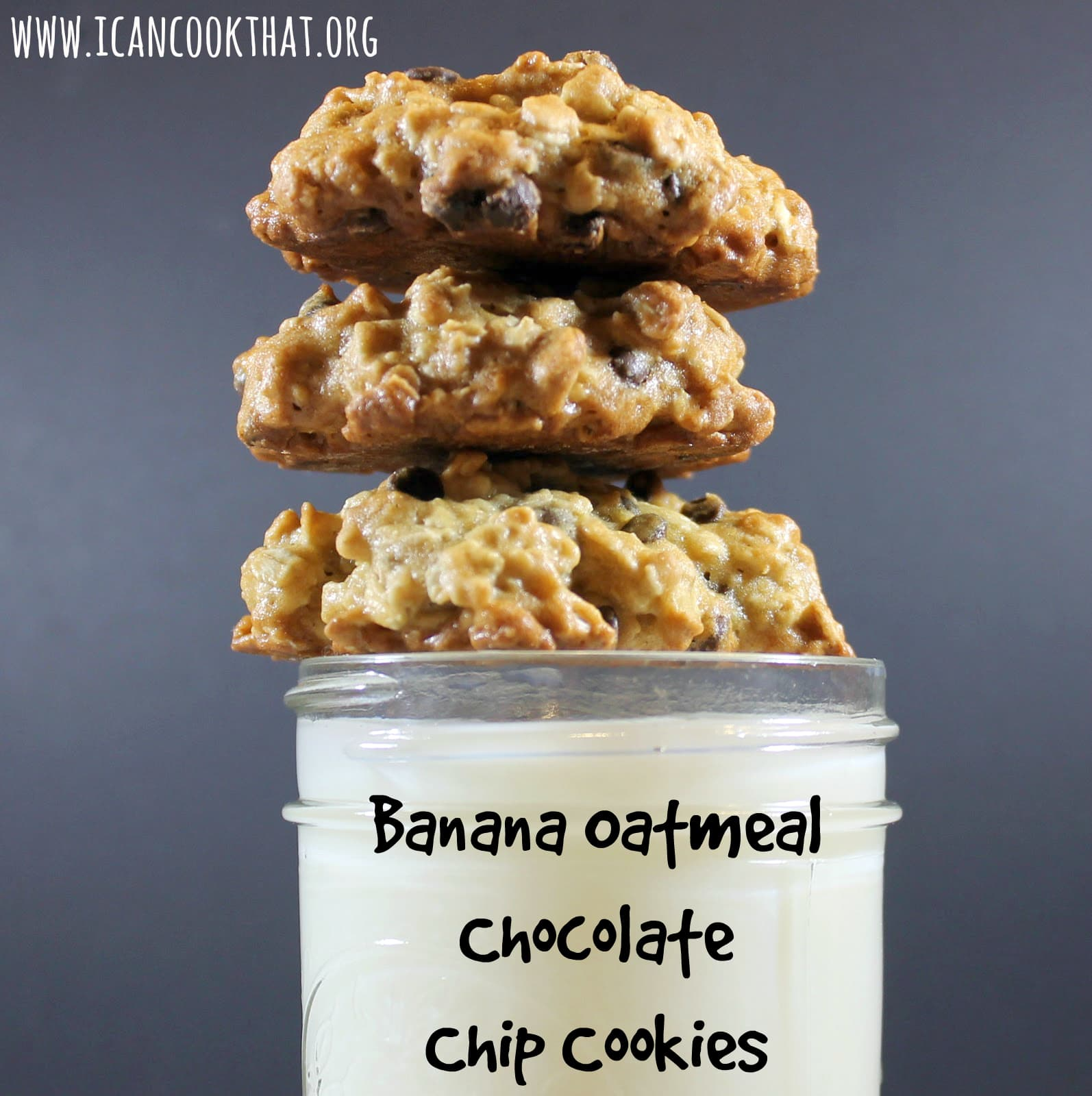 Banana-Oatmeal Chocolate Chip Cookies Recipe | I Can Cook That