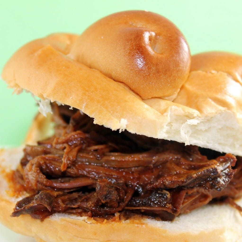 Slow Cooker Barbecue Elk Brisket Sandwiches