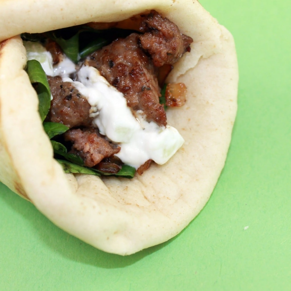 Lamb Wraps with Tzatziki Sauce