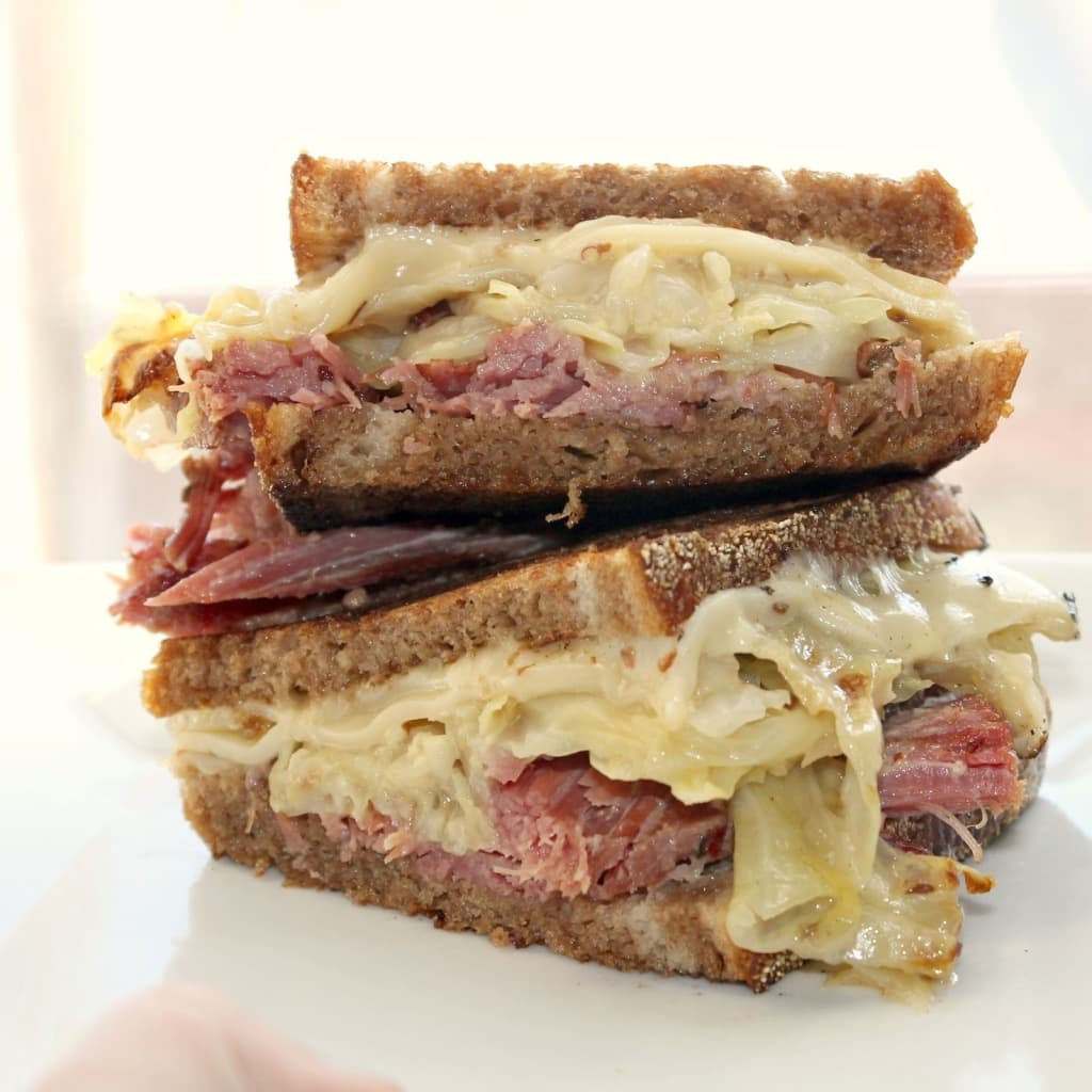Reuben with Homemade Sauerkraut
