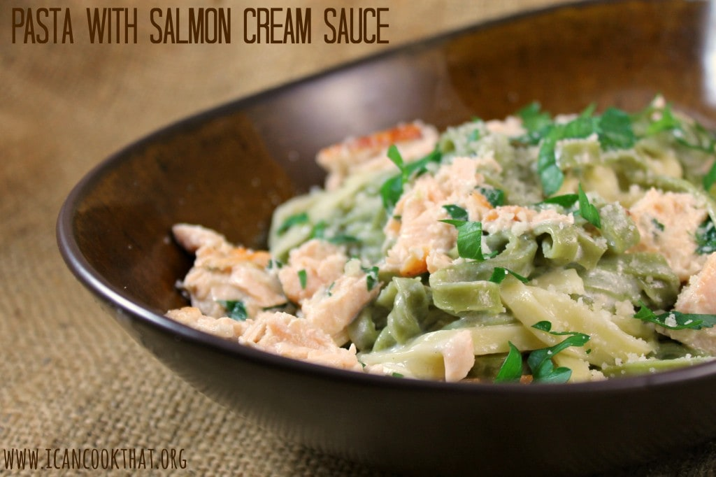Pasta with Salmon Cream Sauce