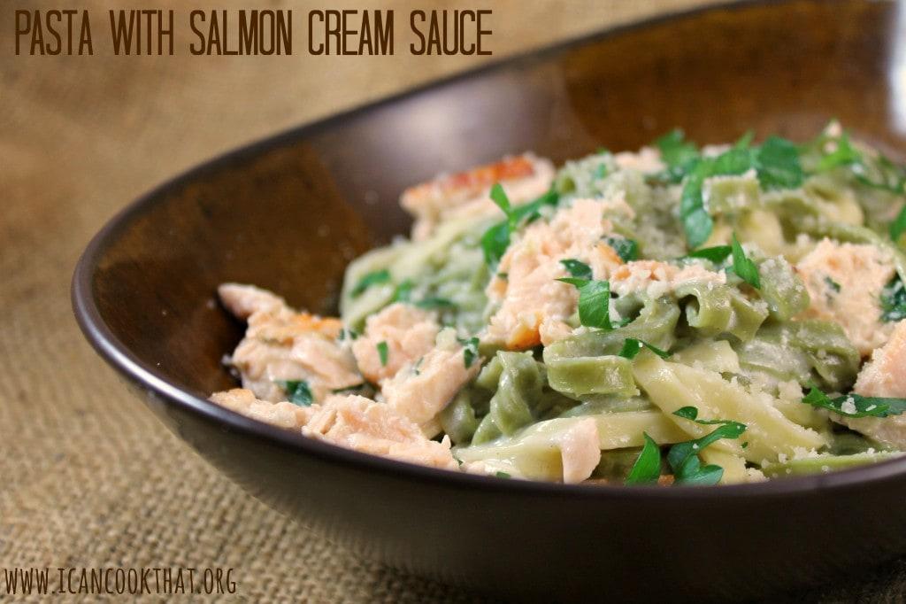 Pasta with Salmon Cream Sauce