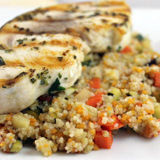 Grilled Rosemary Swordfish with Vegetable Couscous