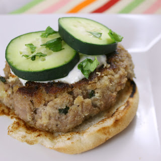 Goat Cheese Stuffed Lamb Burgers