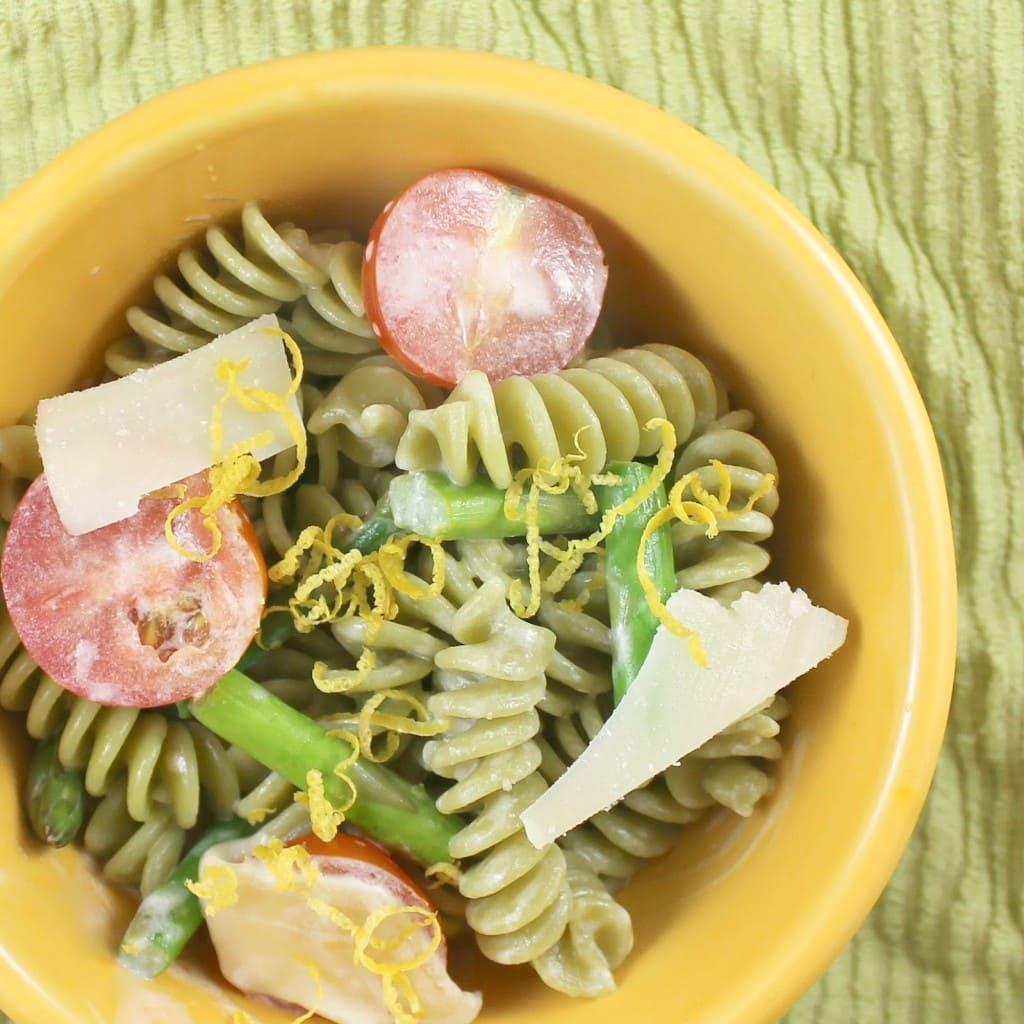 Creamy Lemon Pasta with Vegetables