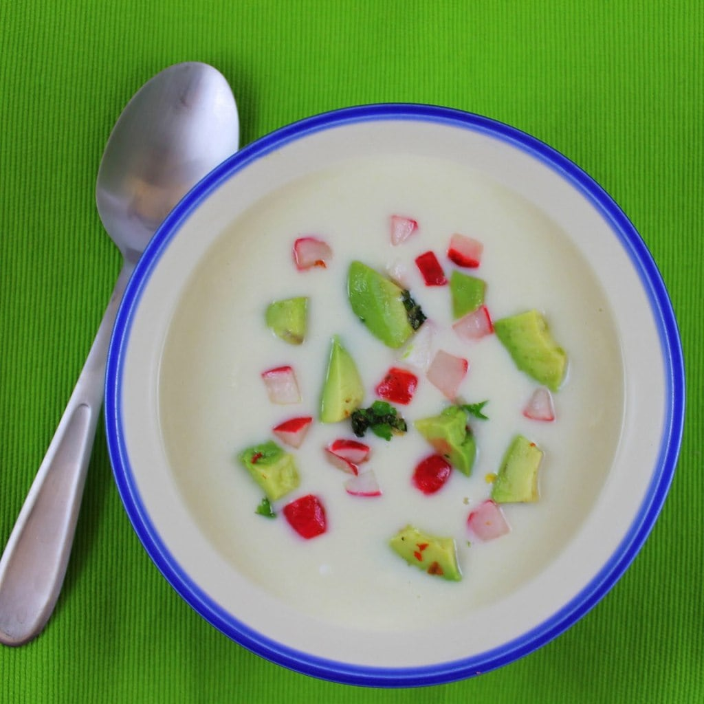 Vegan Chilled Corn Soup