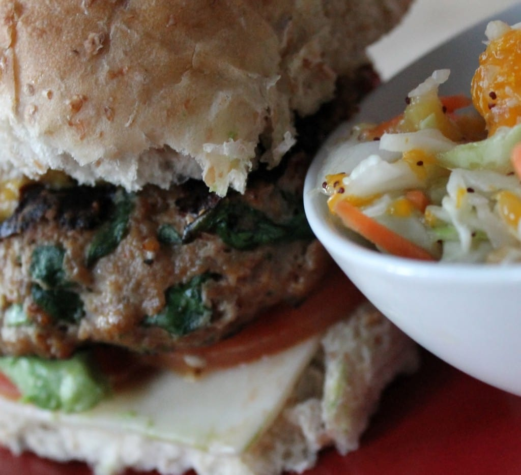 Guest Post: Gourmet Turkey Burger with Island Slaw from Positively Cooking