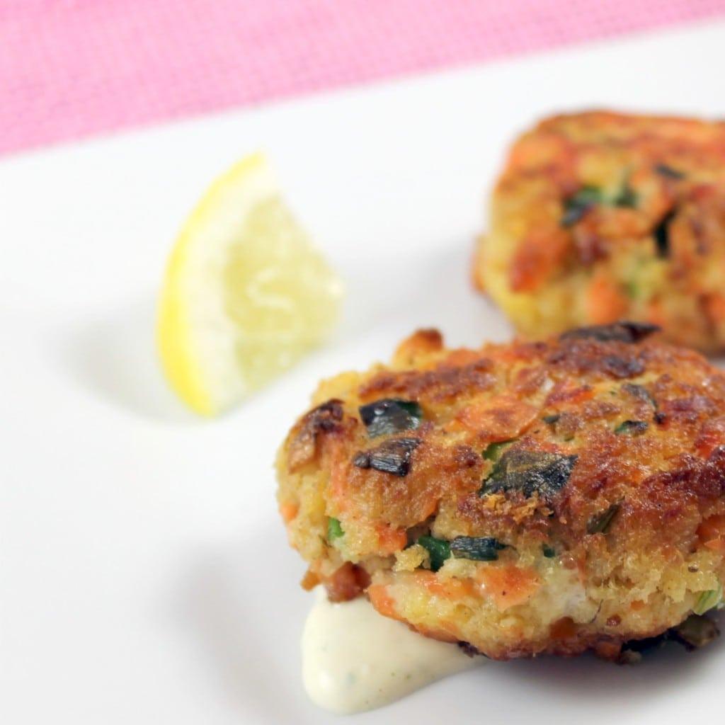 Salmon Croquettes with Lemon Tarragon Aioli