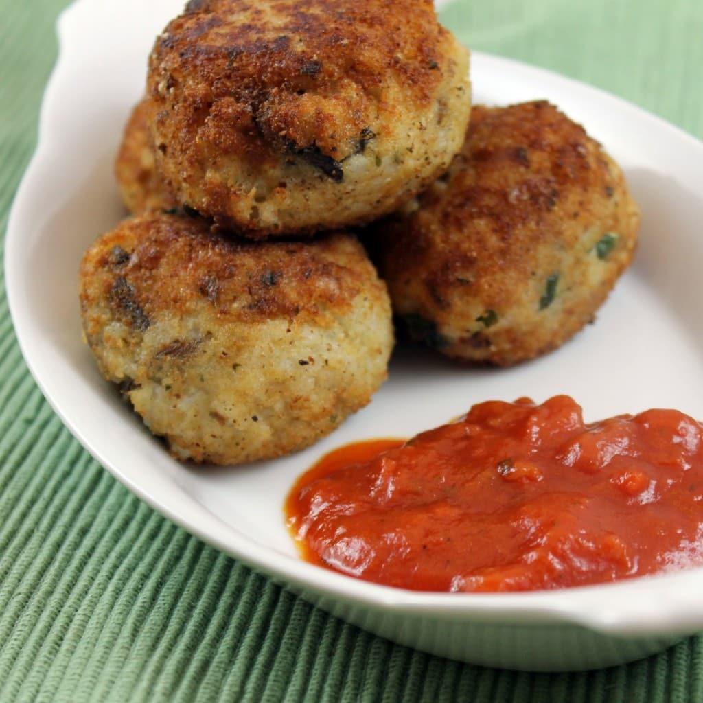 Risotto Balls with Marinara Dipping Sauce