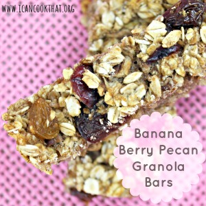Banana Berry Pecan Granola Bars
