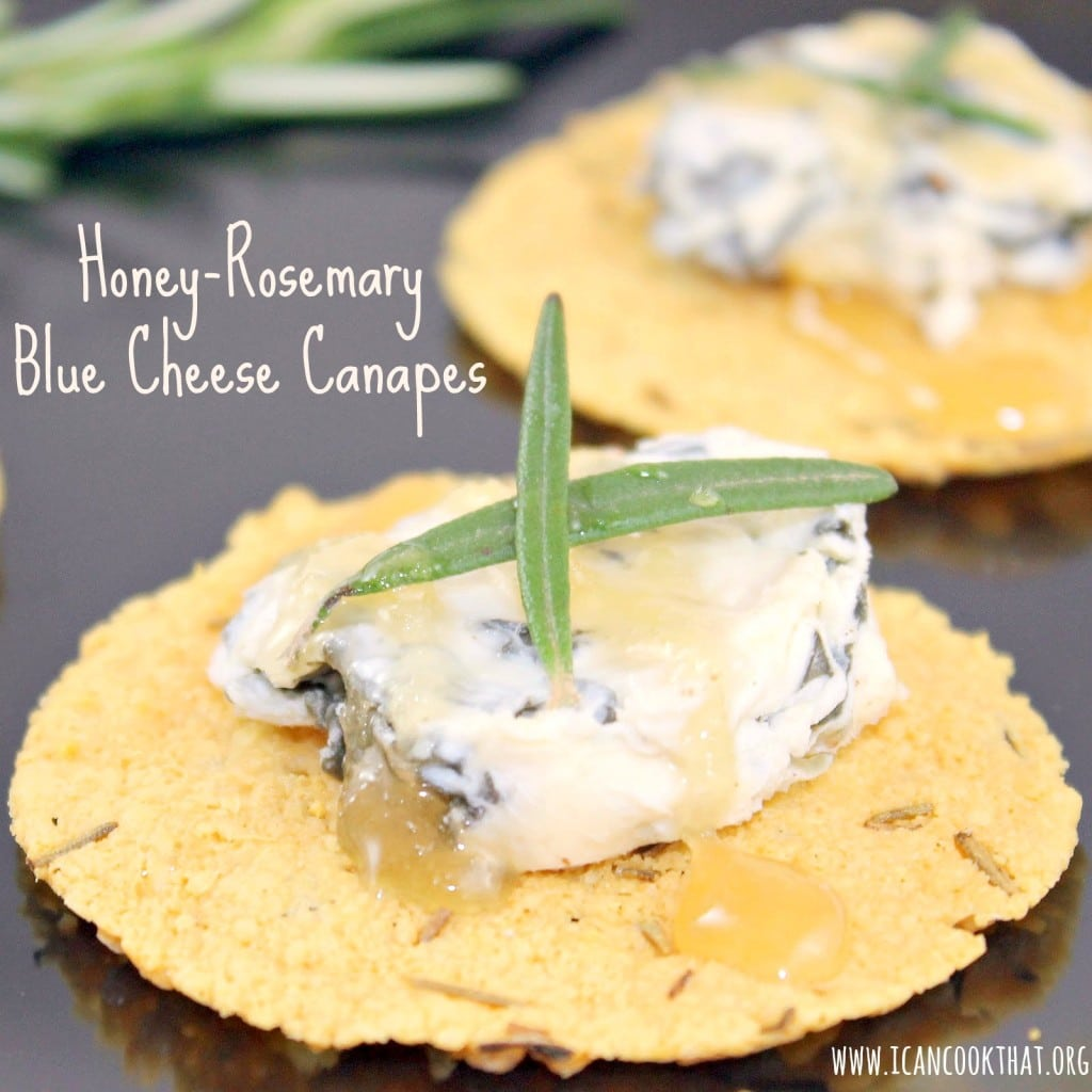 Honey-Rosemary Blue Cheese Canapes