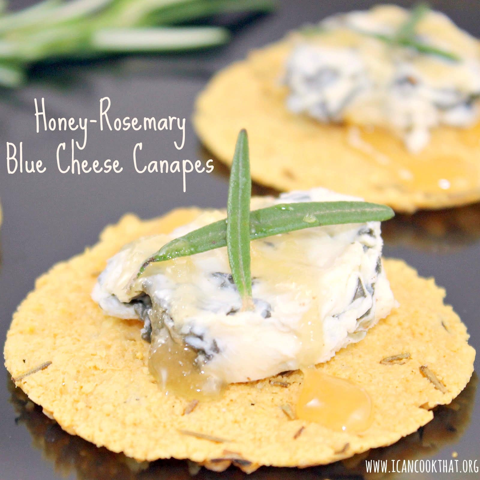honey rosemary blue cheese canapes i can cook that