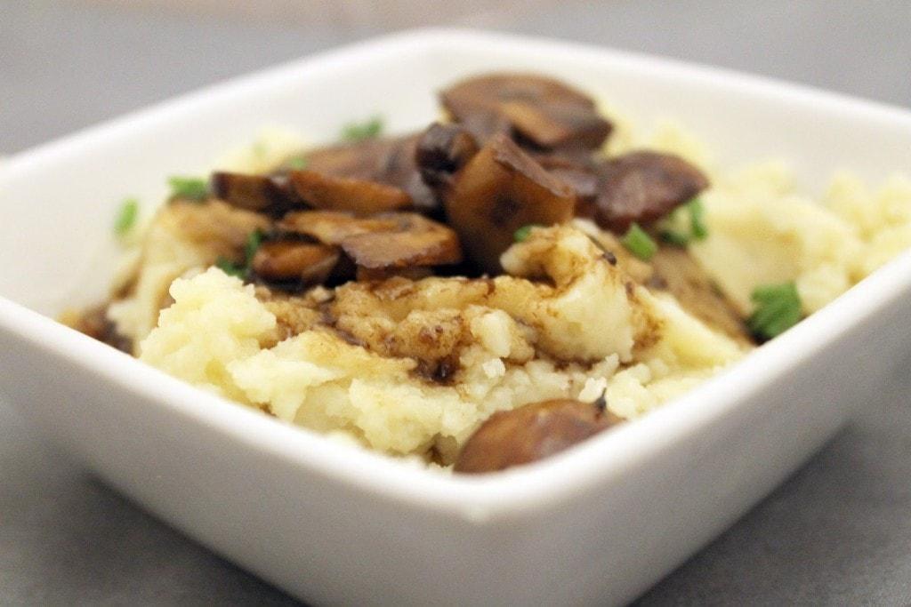 Mashed Potatoes with Mushroom Sauce