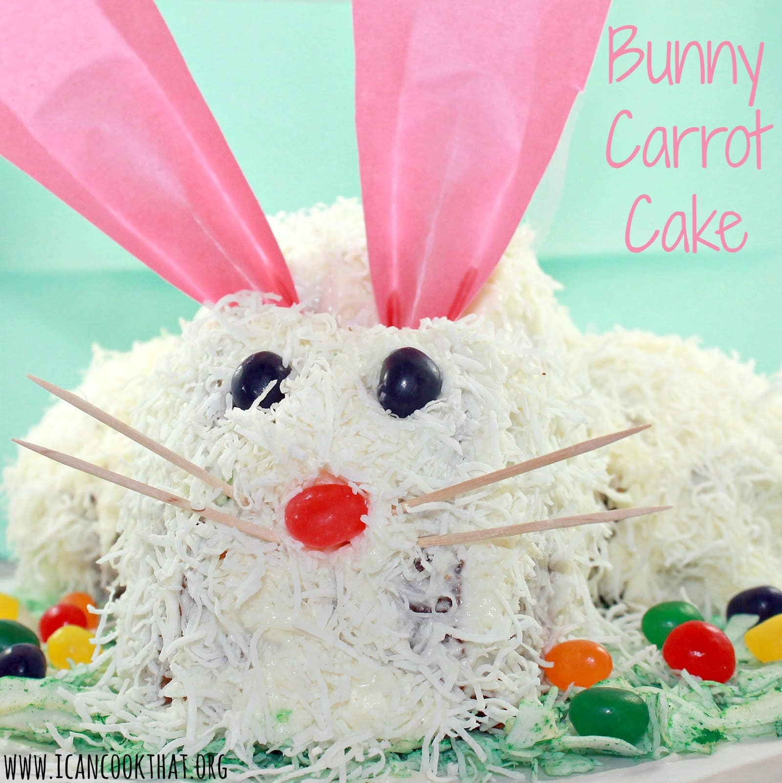Bunny Carrot Cake Recipe | I Can Cook That