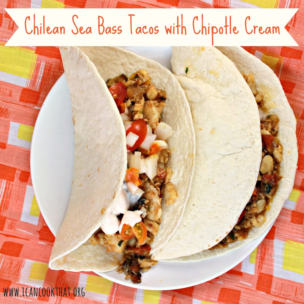 Chilean Sea Bass Tacos with Chipotle Cream