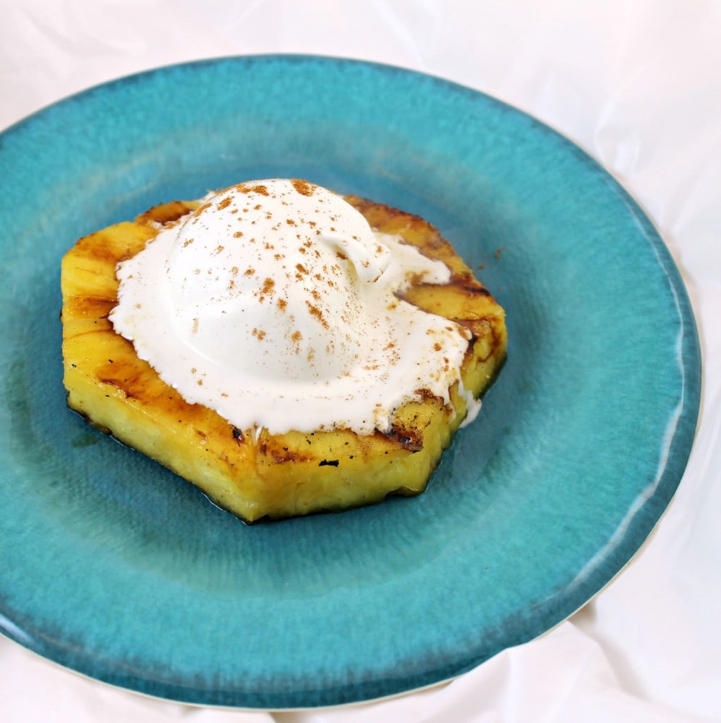 Cinnamon Rum-Spiked Grilled Pineapple with Ice Cream | I Can Cook That