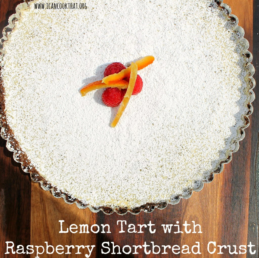 Lemon Tart with Raspberry Shortbread Crust