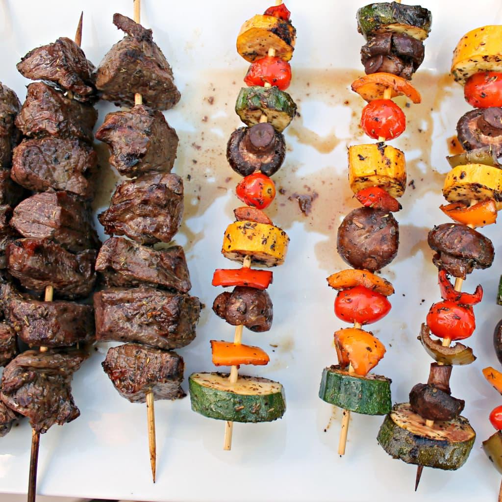 Beef and Vegetable Shish Kabobs