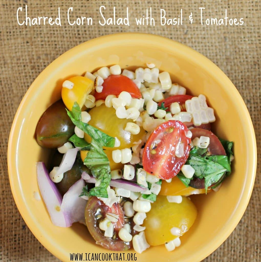 Charred Corn Salad with Basil and Tomatoes