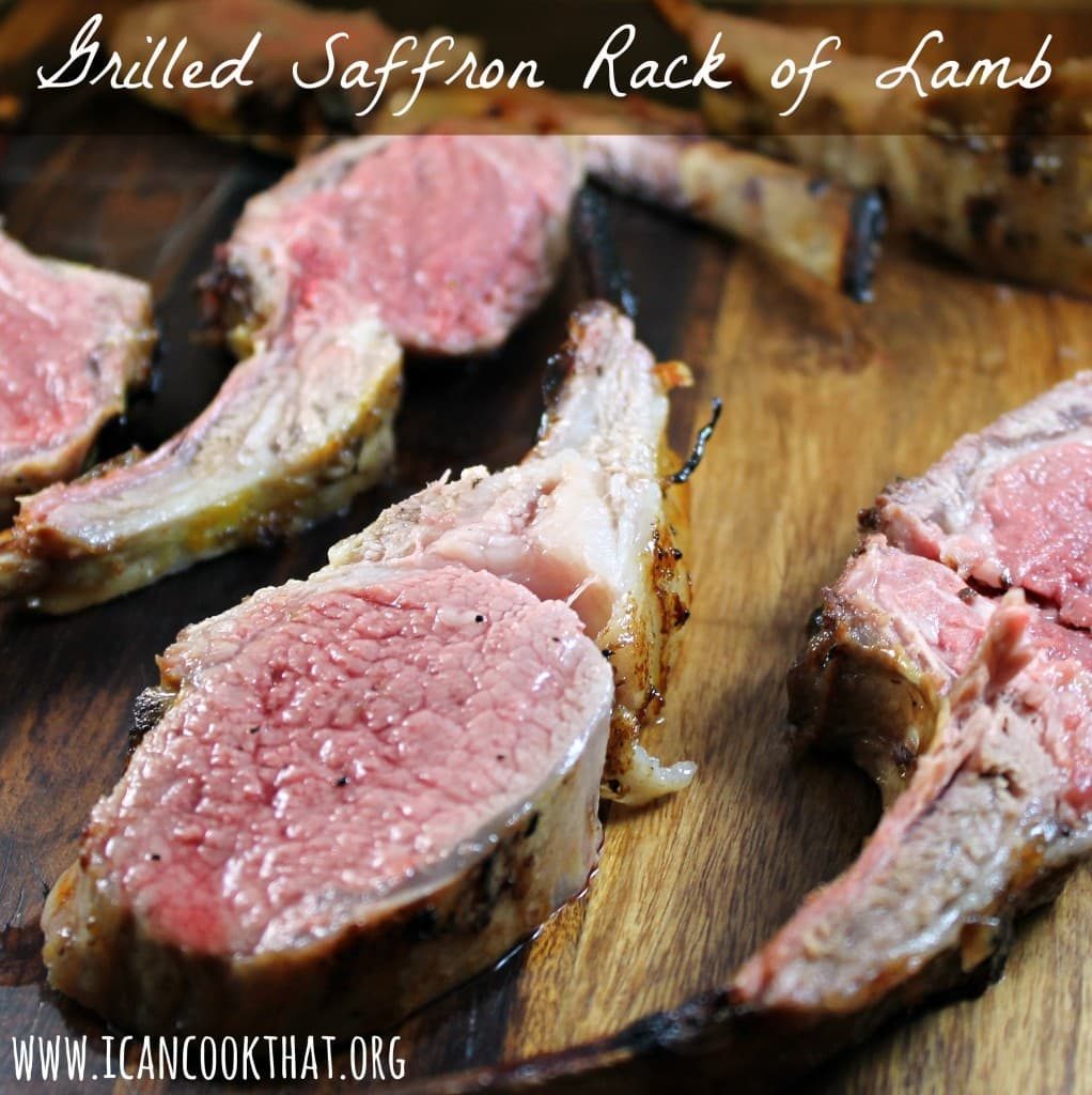 Grilled Saffron Rack of Lamb