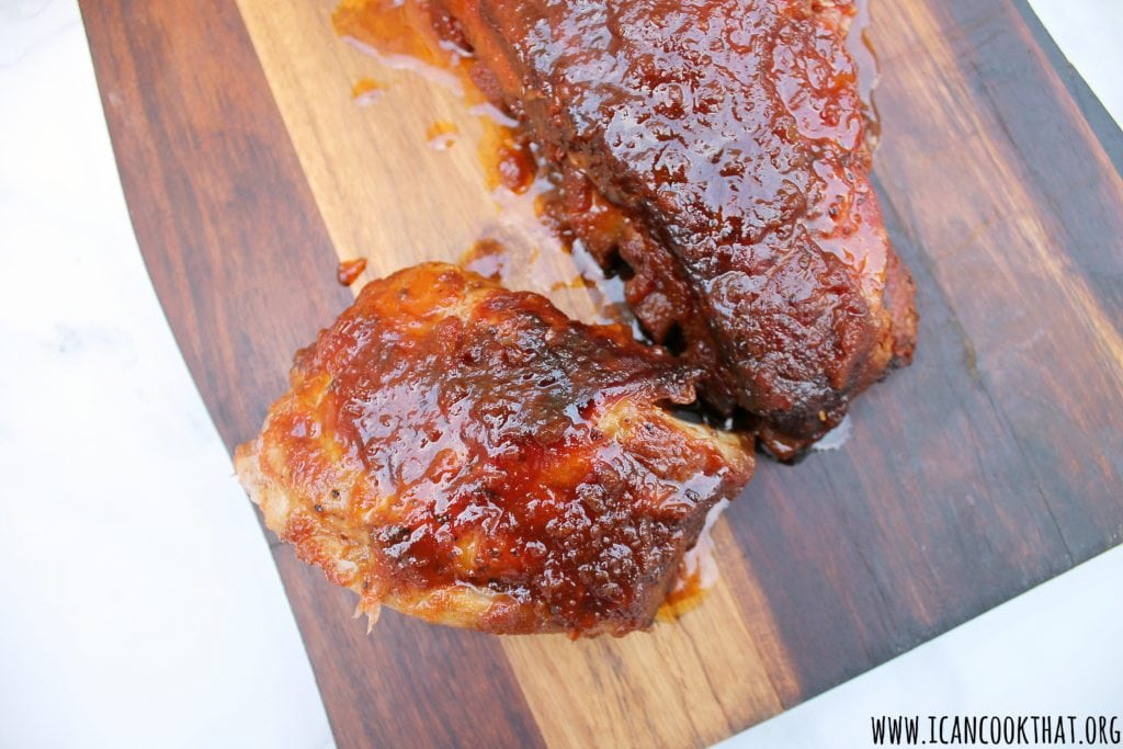 Slow Cooker Bourbon BBQ Baby Back Ribs