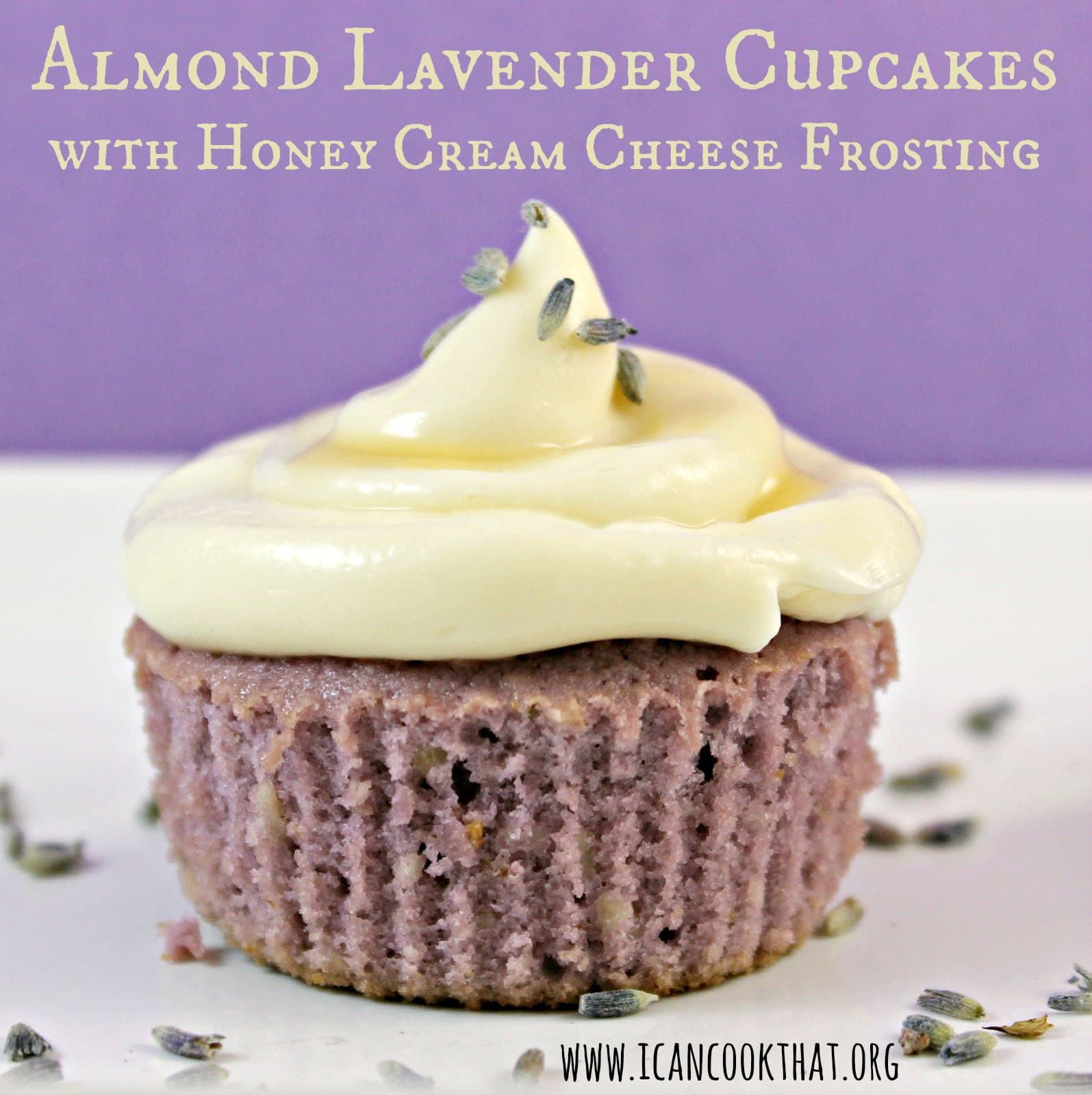 Almond Lavender Cupcakes with Honey Cream Cheese Frosting ...