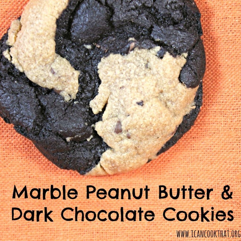 Marble Peanut Butter & Dark Chocolate Cookies