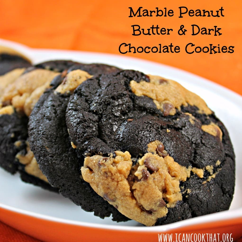 Marble Peanut Butter & Dark Chocolate Cookies