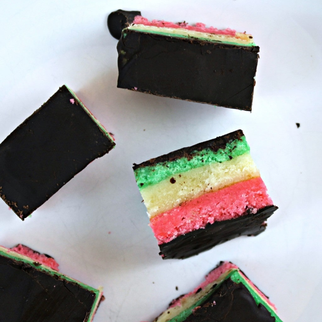 Rainbow Cookies (a.k.a Seven-Layer Cookies)