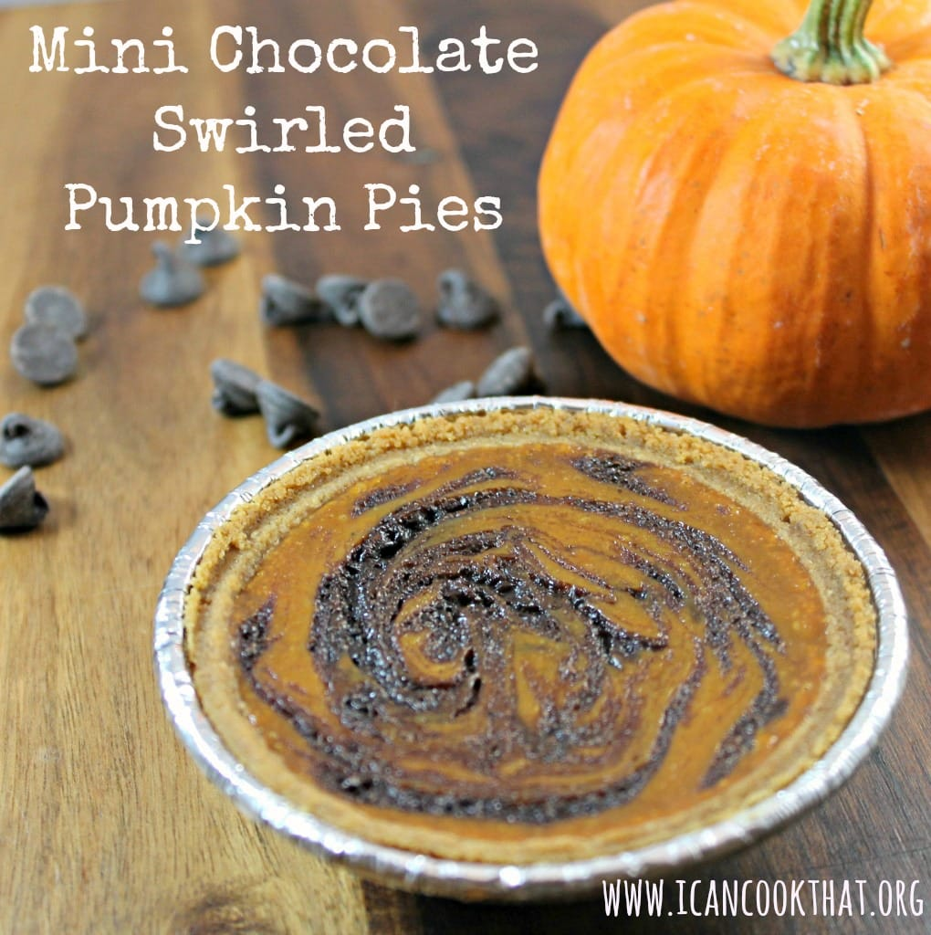 Mini Chocolate Swirled Pumpkin Pies