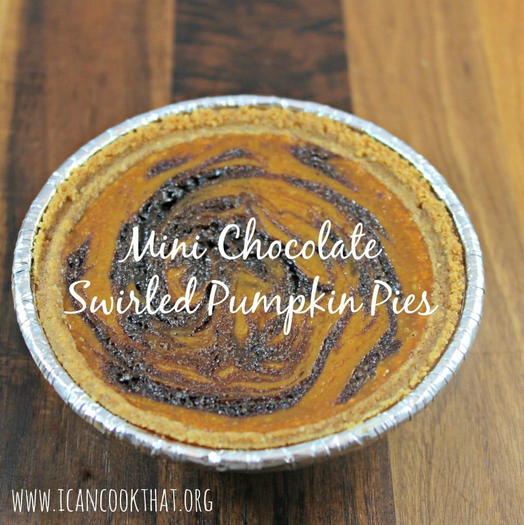 Mini Chocolate Swirled Pumpkin Pies