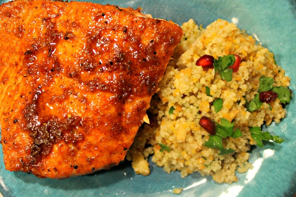 Sweet Orange Salmon with Browned Butter-Orange Couscous
