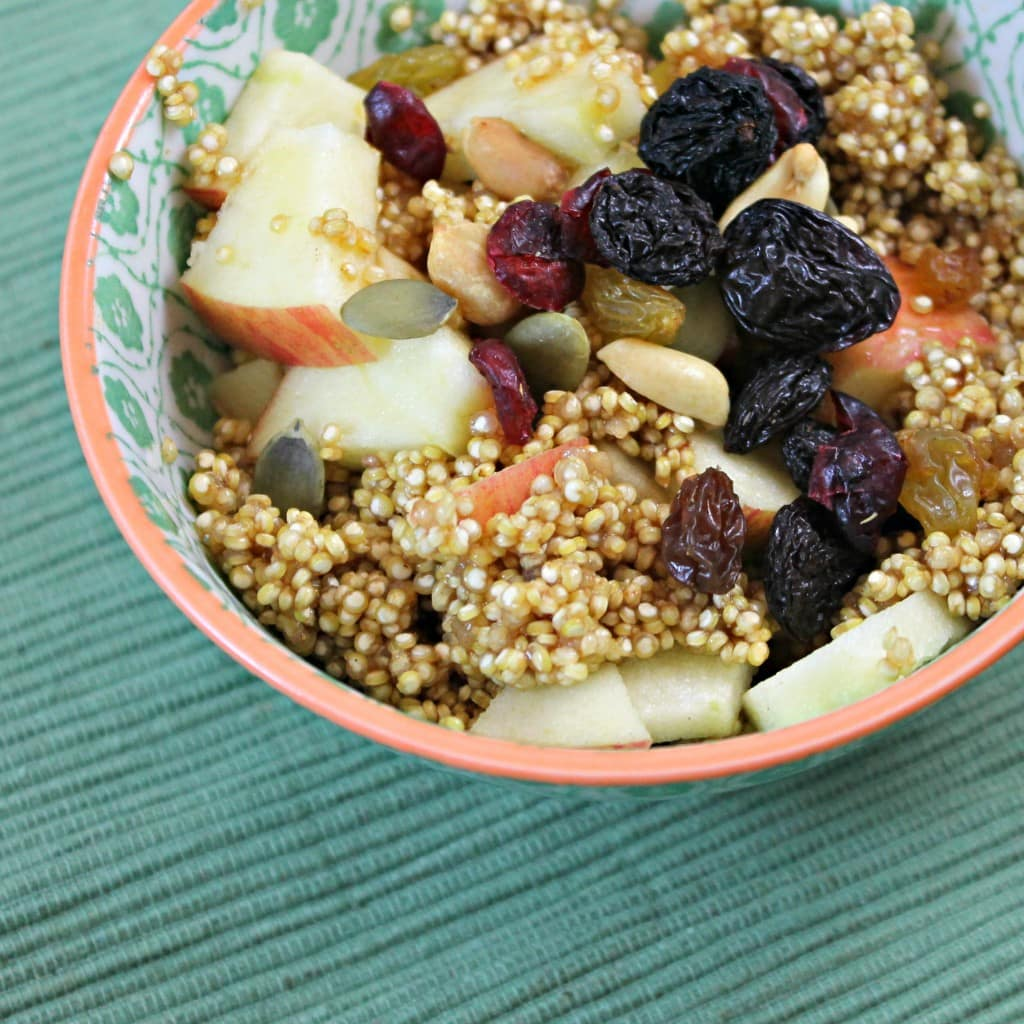 Vegan Apple-Cinnamon Breakfast Quinoa Recipe - I Can Cook That | I Can ...