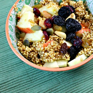 Vegan Apple-Cinnamon Breakfast Quinoa