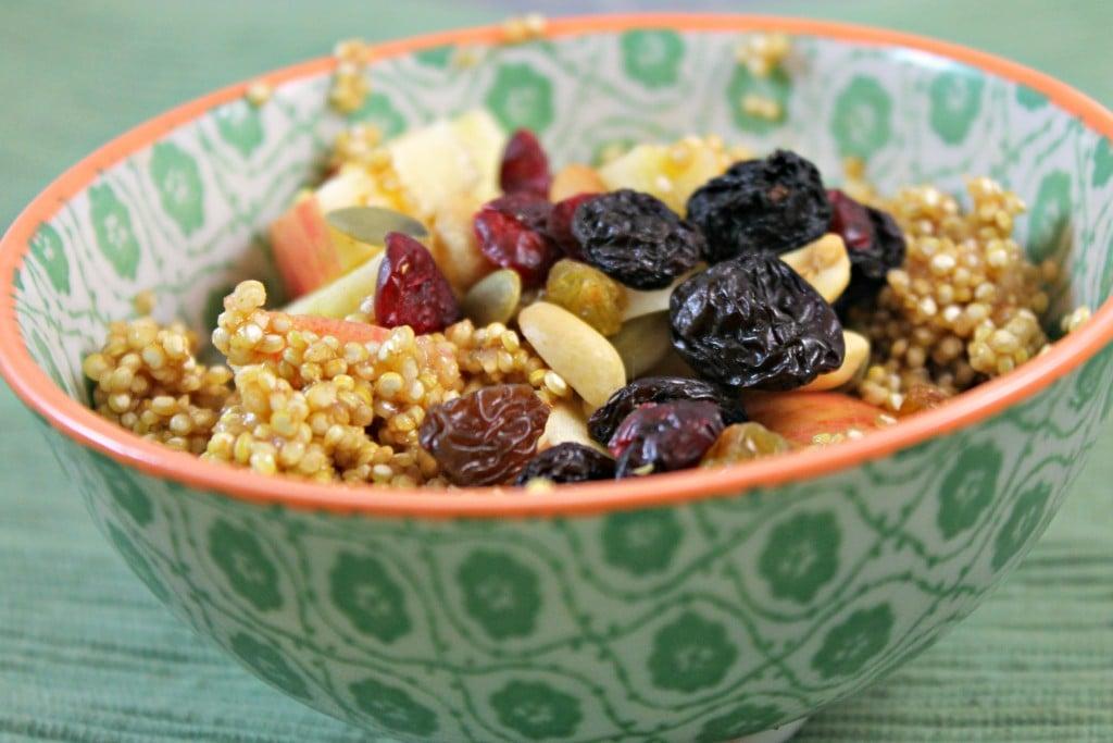 Vegan Apple-Cinnamon Breakfast Quinoa Recipe - I Can Cook That | I Can ...
